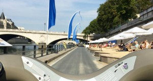 Biking next to Paris Plages/ courtesy of Velib'