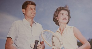 Kennedys play tennis in Palm Beach