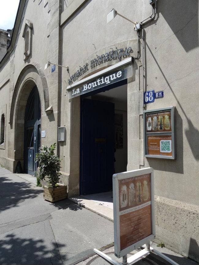 the Artisanat Monastique boutique in Paris