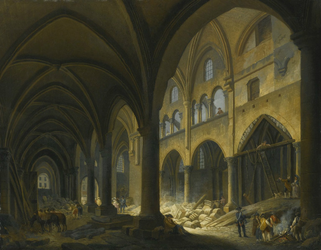 Demolition of L'eglise des Saints Innocents