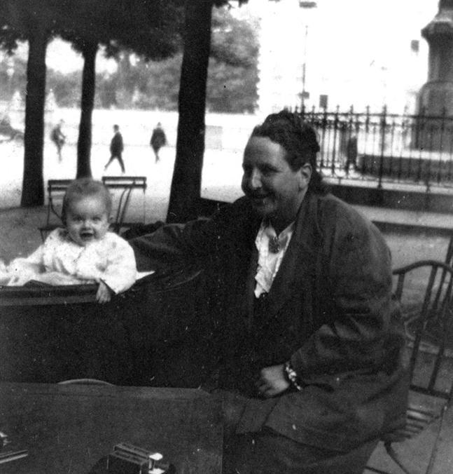 Gertrude Stein with Hemingway's son