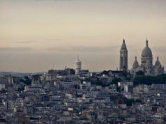 Sacré-Cœur as seen from the Eiffel Tower