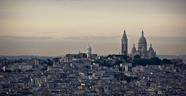 Sacré-Cœur as seen from the Eiffel Tower