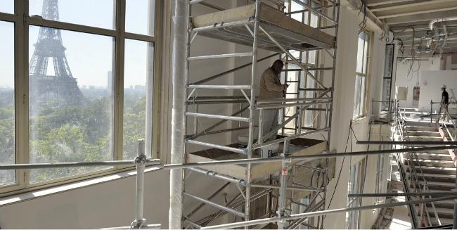 construction on Musée de l'Homme
