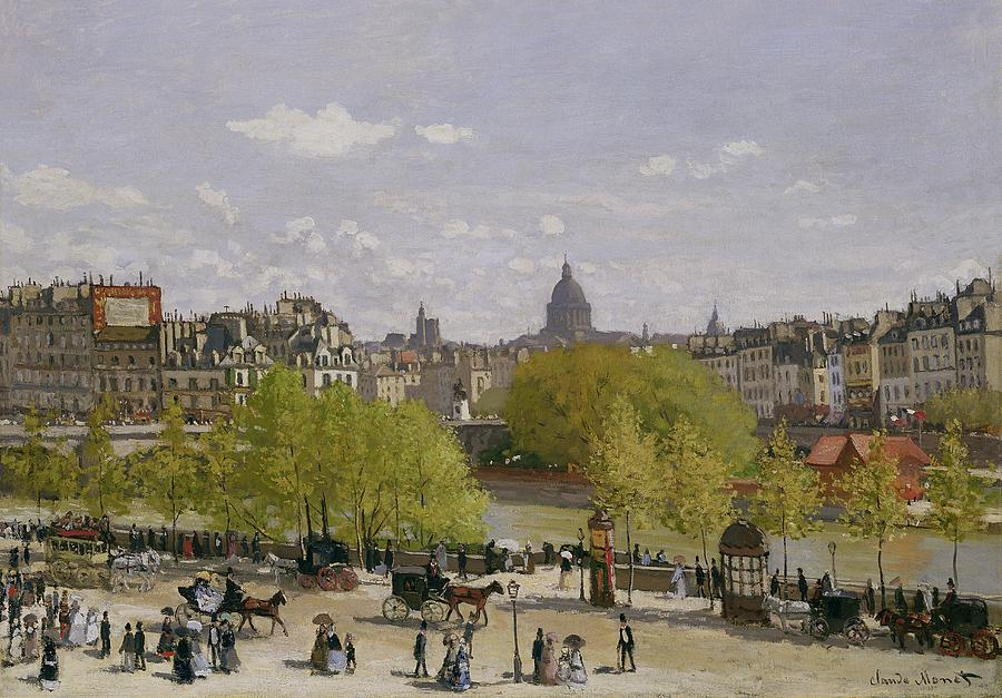 Quai du Louvre, Paris by Claude Monet
