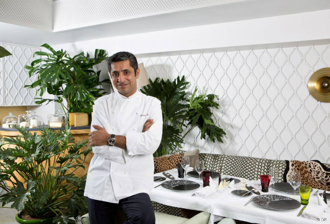 Chef Sylvestre Wahid at Thoumieux in Paris