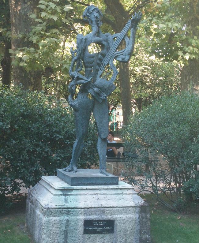 Zadkine statue in the Jardin du Luxembourg