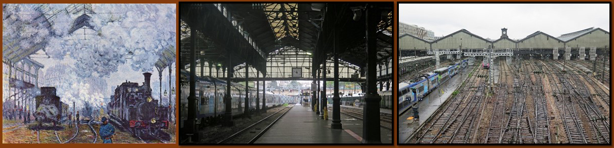 Monet painting Gare St Lazare