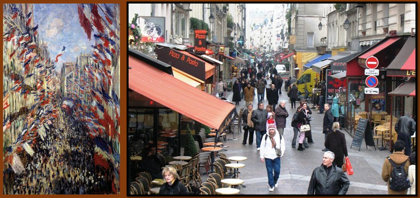Claude Monet's rue Montorgueil