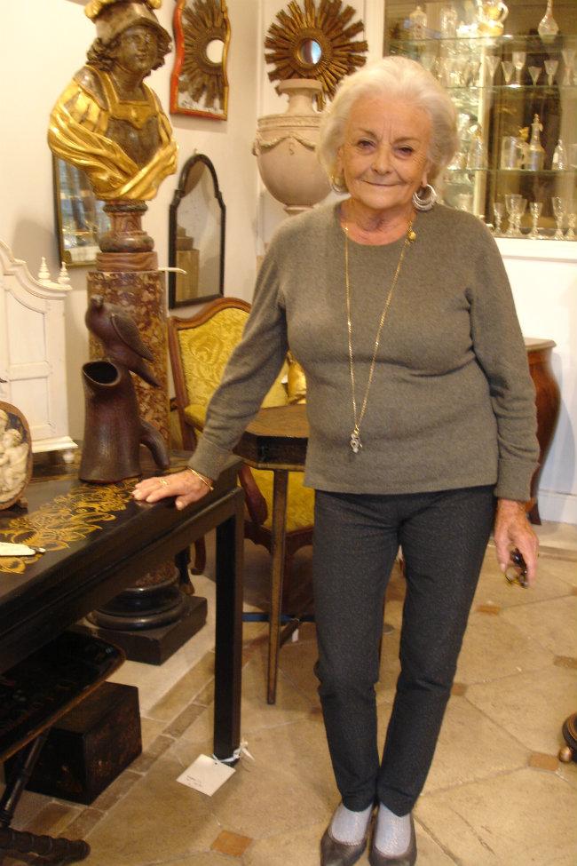 Madame Nicole Altéro, owner of Galerie Altéro