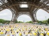 International Yoga Day under the Eiffel Tower