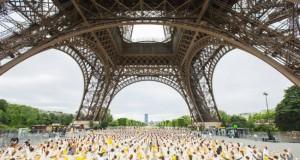 International Yoga Day under the Eiffel Tower