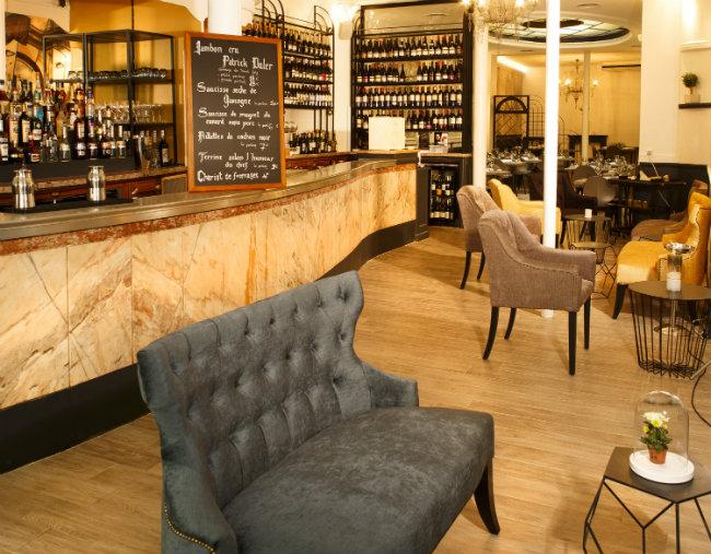 The bar at AG Restaurant-Les Halles