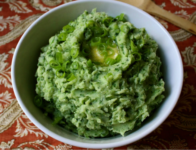 Green Mashed Potatoes- a recipe from Alice B. Toklas
