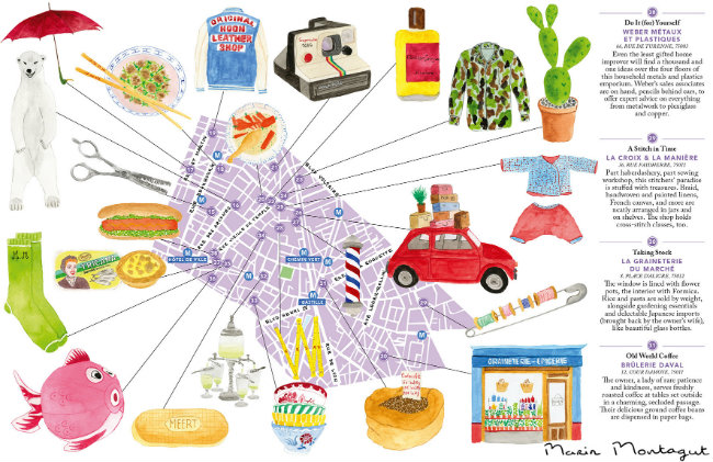 "Flammarion's ""Bonjour Paris"" city map-guide"