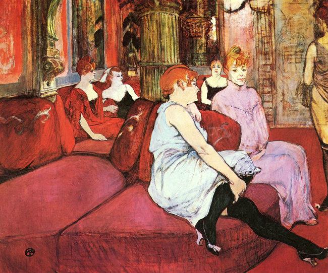 Au Salon de la rue des Moulins (1894) by Henri de Toulouse-Lautrec