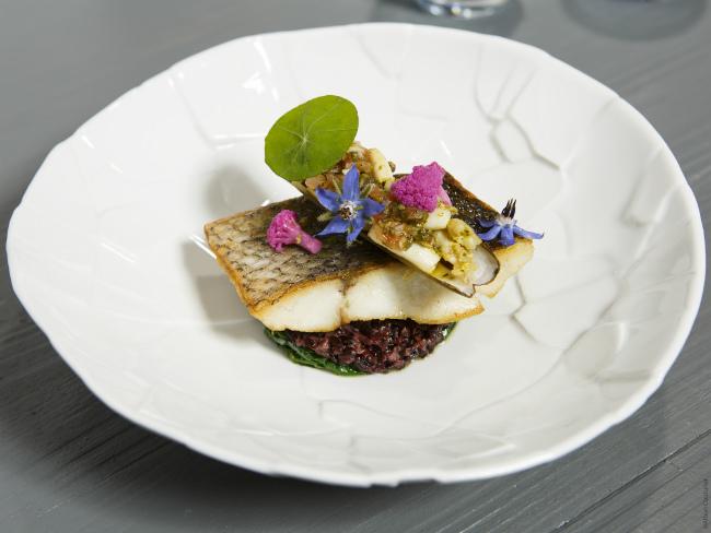 Maigre risotto at AG restaurant-Les Halles