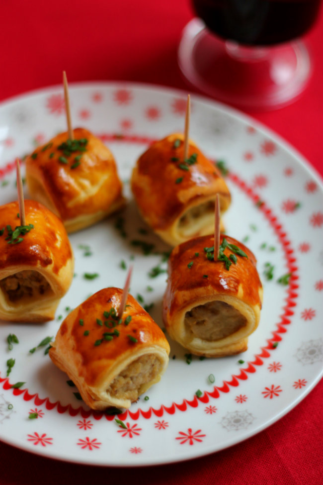 boudin blanc in puff pastry