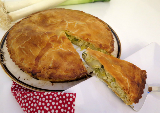 Flamiche-French Leek Pie by Jill Colonna, MadAboutMacarons.com