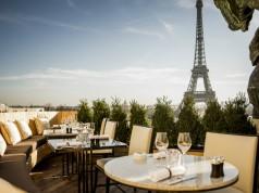 The view from the terrace at Café de l'Homme