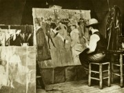Toulouse-Lautrec painting the Moulin Rouge