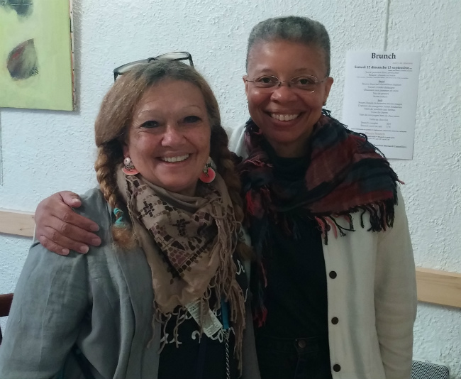 The author Michele Kurlander with Monique Wells