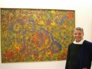 Monique Wells with Delaney's work at the Centre Pompidou Paris