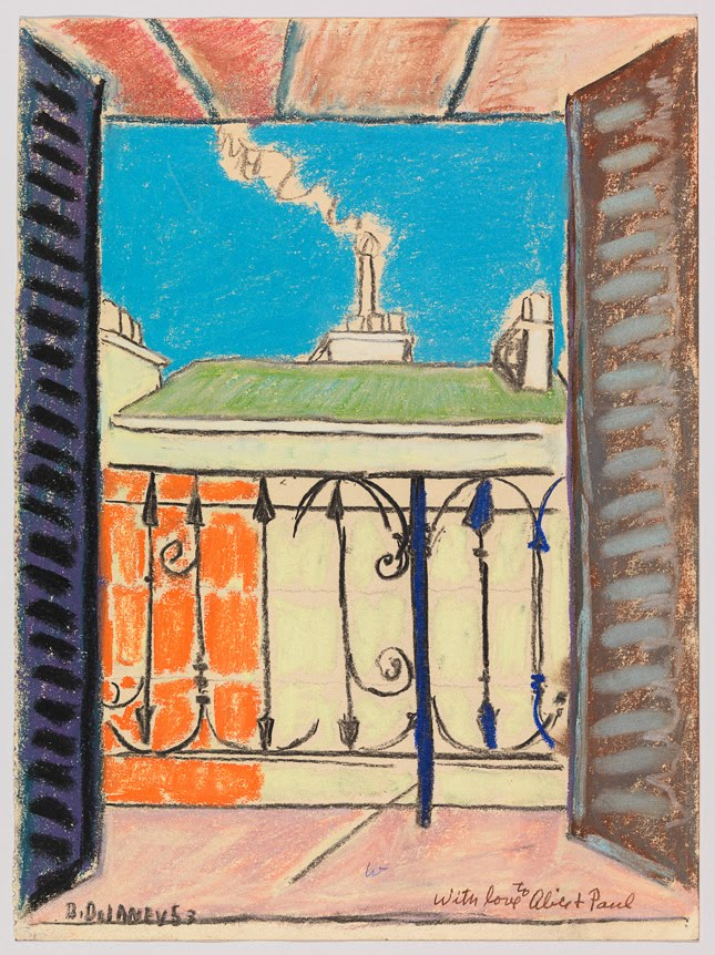 Paris Window (1953) Pastel on paper by Beauford Delaney