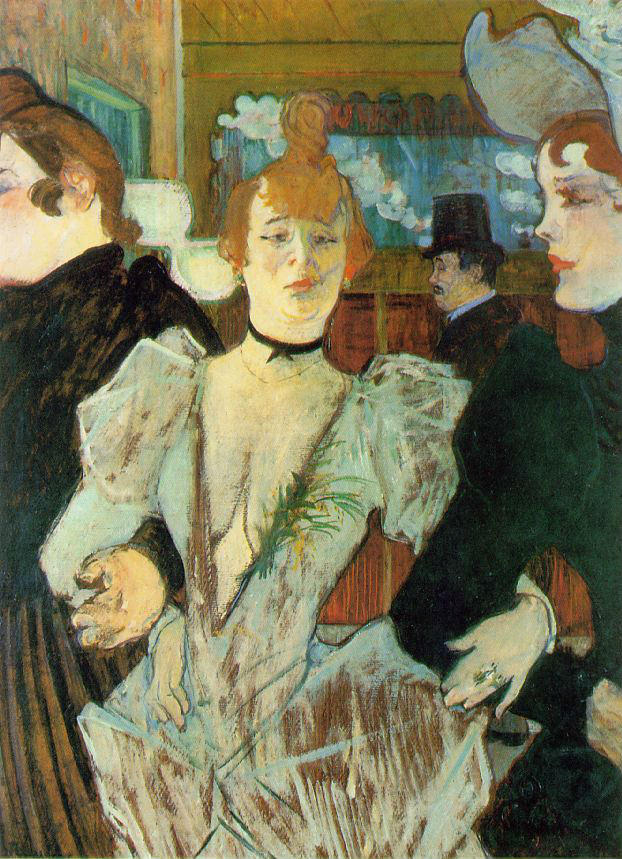 La Goulue arriving at the Moulin Rouge (1892)