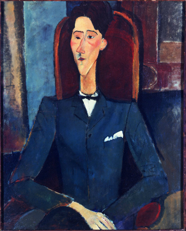 Modigliani portrait of Jean Cocteau