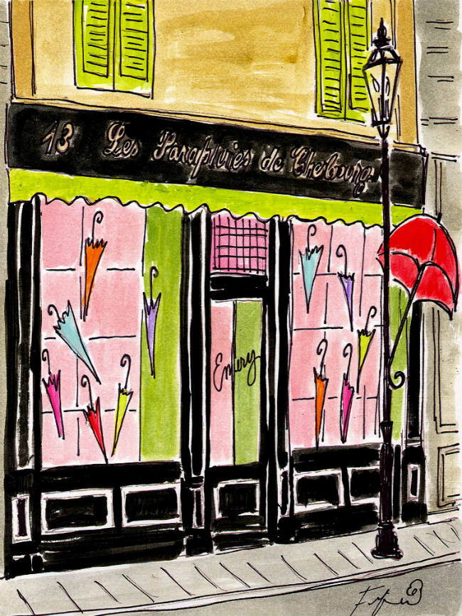 Les Parapluies de Cherbourg by Fifi Flowers