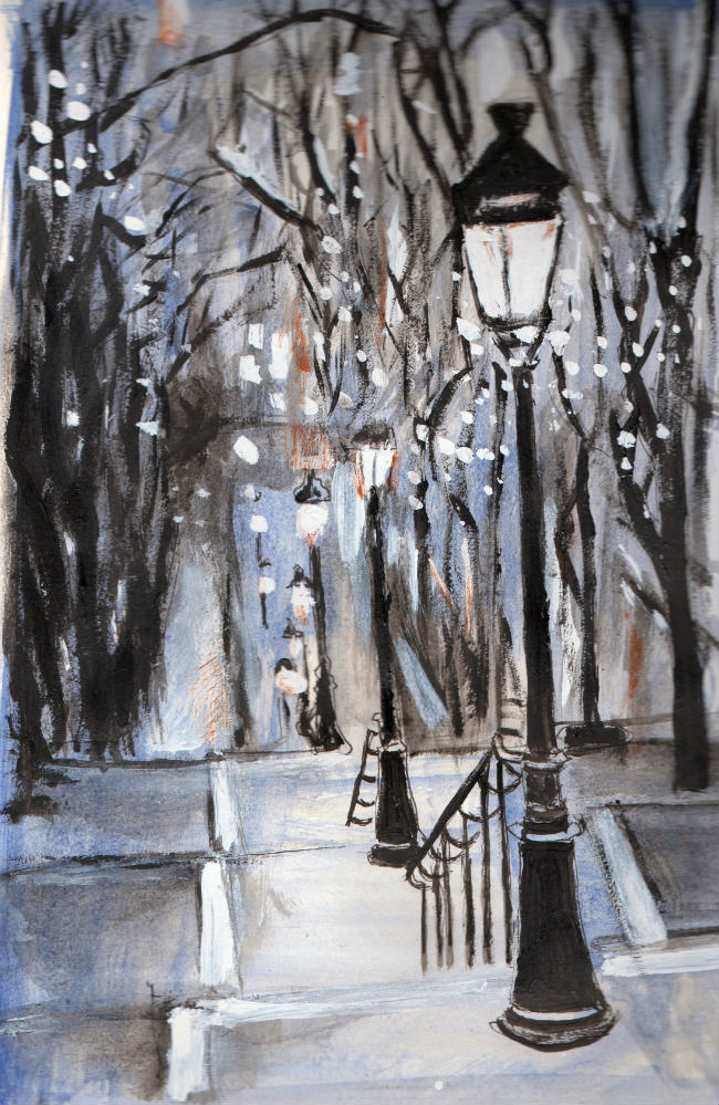 Montmartre painting by Charlie Hawksfield