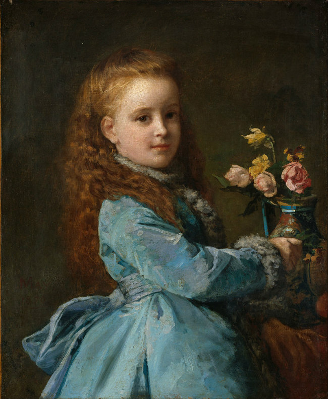 Portrait of Wharton as a girl by Edward Harrison May (1870)