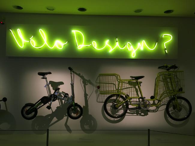 "bikes displayed at ""Invention/Design. Regards Croisés"