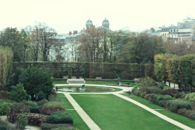 The view out the window of the recently renovated Rodin Museum
