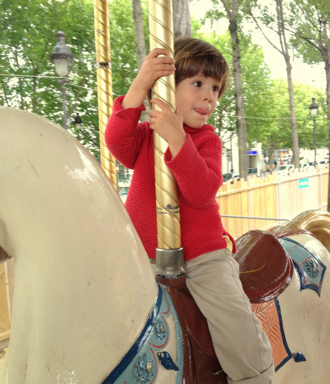 a merry-go-round in Paris/ photo by Daisy de Plume