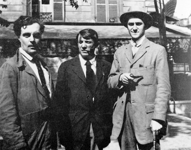Modigliani, Pablo Picasso and André Salmon