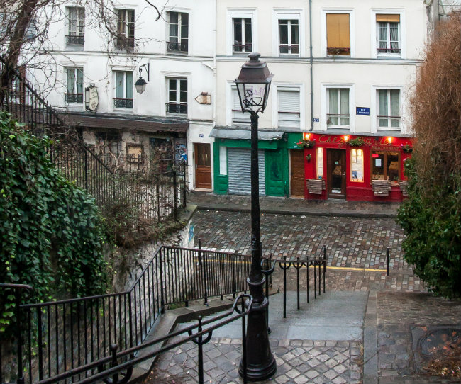 staircase in Montmartre