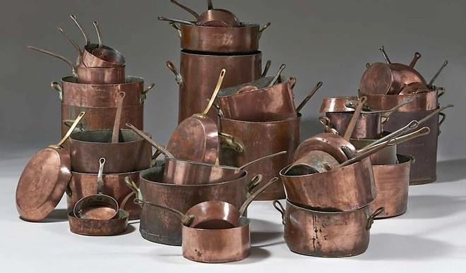 copper pans, La Tour d'Argent