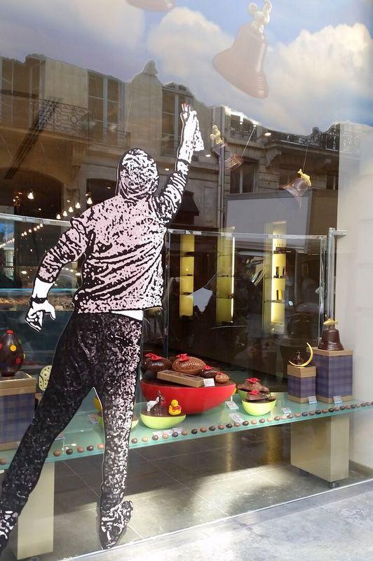 Jean-Paul Hévin's chocolate window cleaner