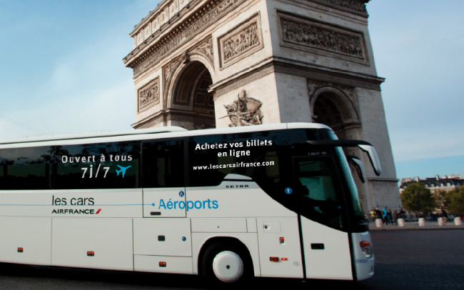 the Air France bus from the airport to Paris