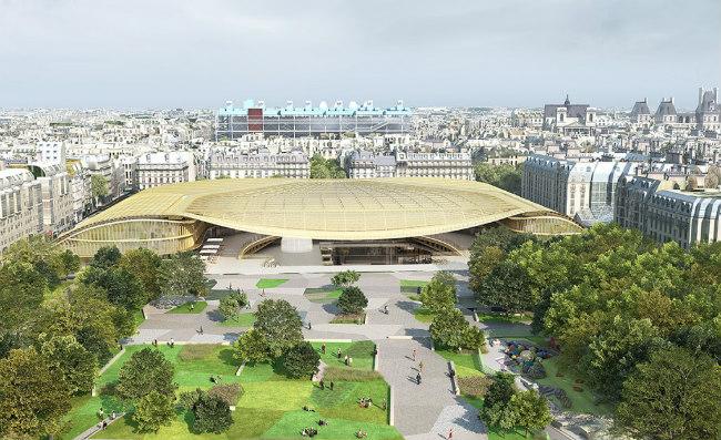 artistic rendering of Les Halles