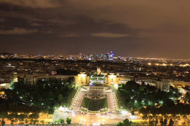 The Palais de Chaillot, as seen from the Eiffel Tower in recent years
