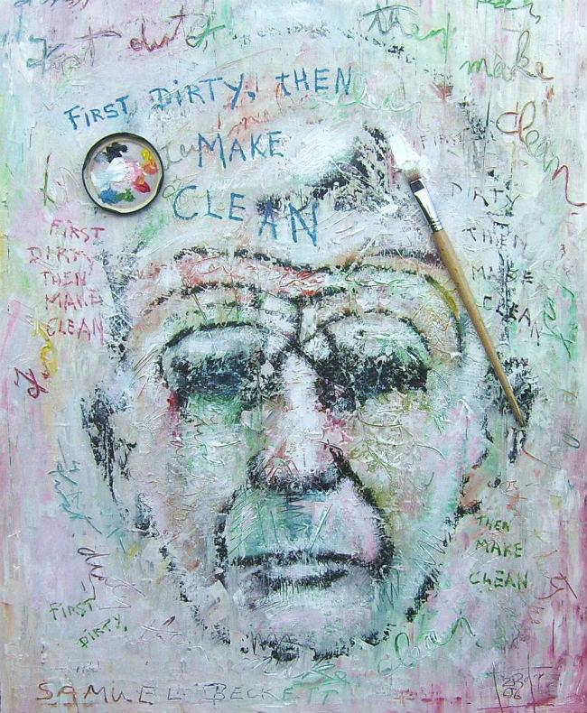 painting of Samuel Beckett