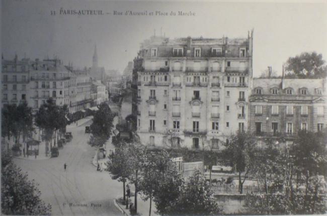 Vintage postcard of Rue d'Auteuil