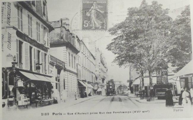vintage postcard Rue d'Auteuil