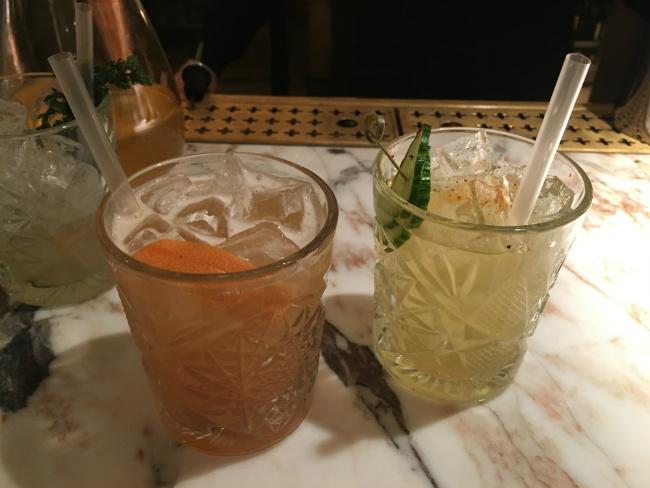 cocktails made with Palais des Thés tea at L'Alcazar in Paris