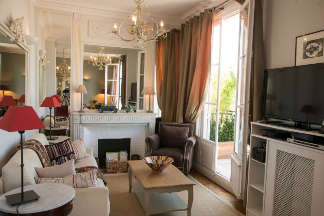 Living Room of the Cognac apartment, Paris Perfect