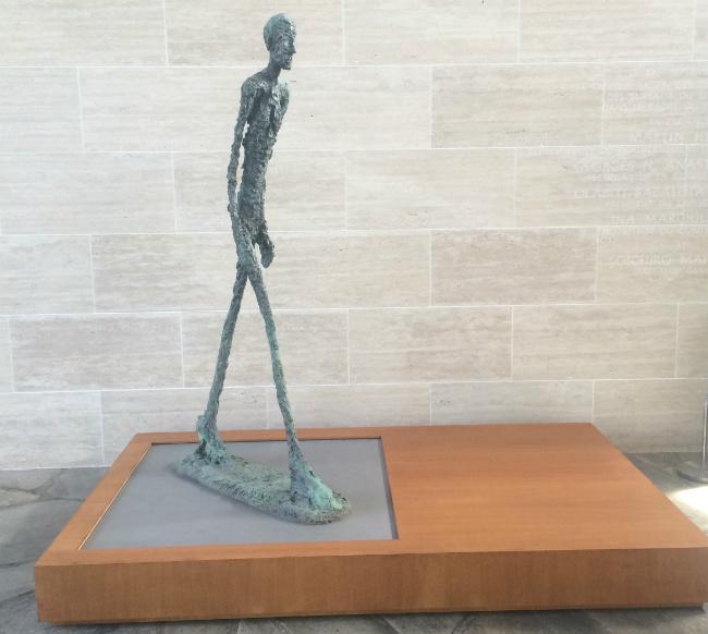 """Alberto Giacometti's sculpture """"Walking Man"""" at UNESCO"""