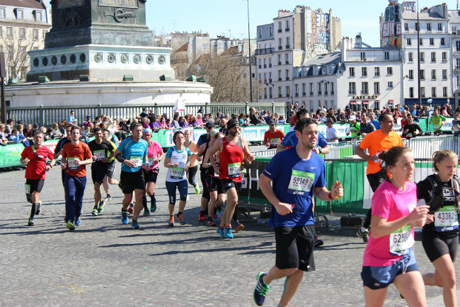 The Paris marathon by Bryan Pirolli